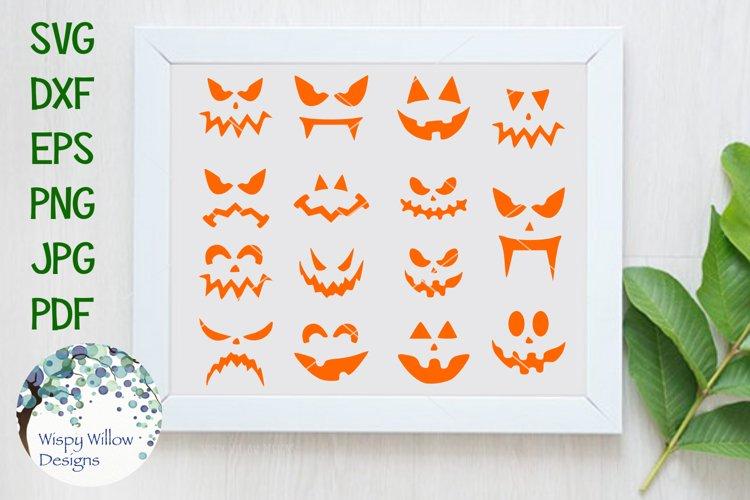 Halloween Pumpkin Faces | Jack o lantern | SVG Cut File