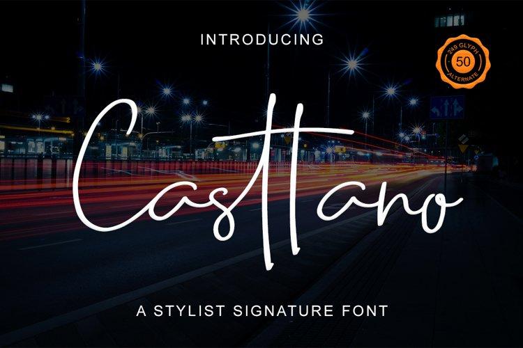 Casttano - Signature Font example image 1