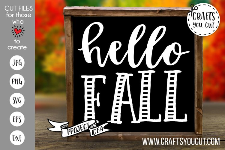 Hello Fall Cut File example image 1