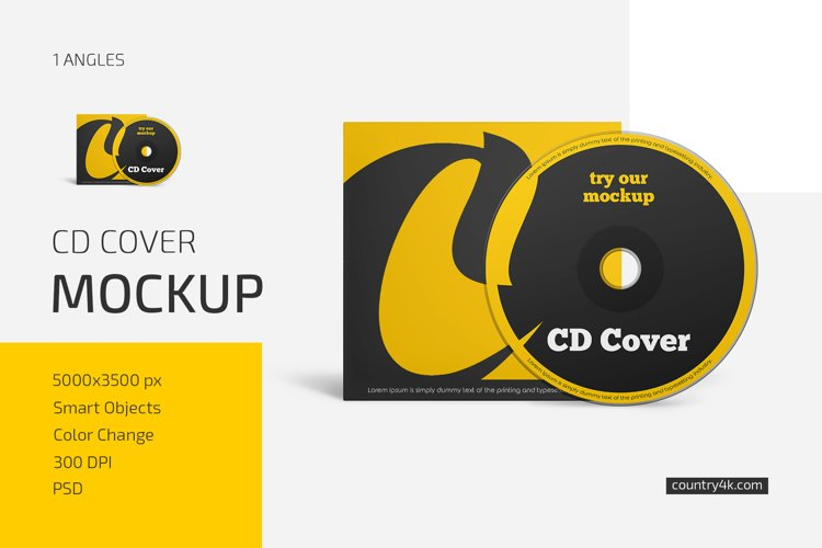 CD Cover Mockup example