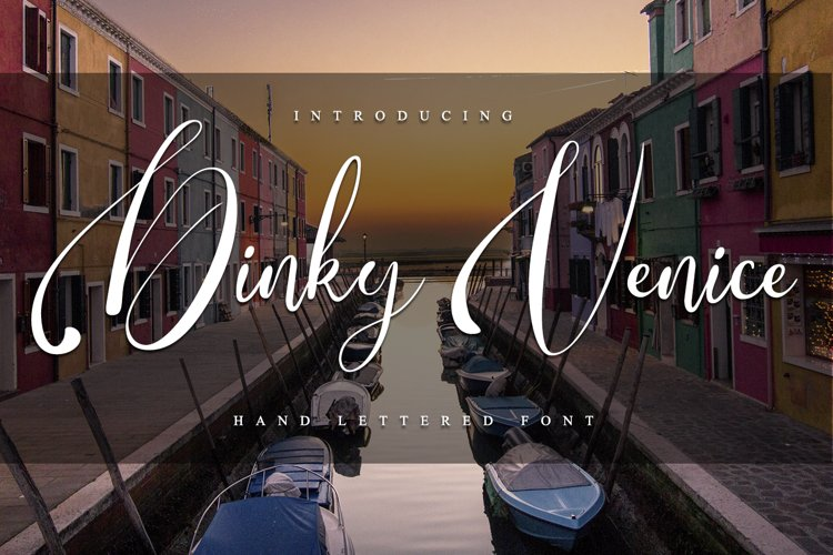 Dinky Venice - Hand lettered font example image 1