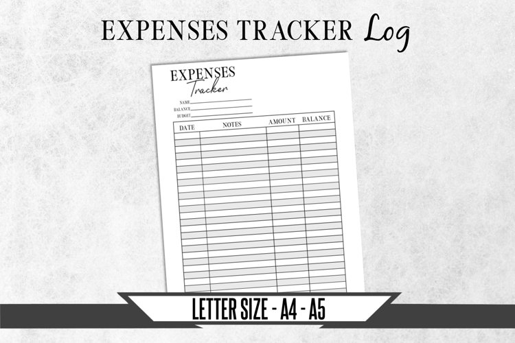 Expenses Budget Plan Tracker Printable Planner Page example image 1