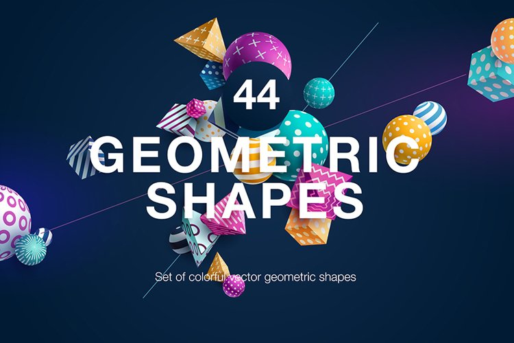 Set of colorful vector geometric shapes