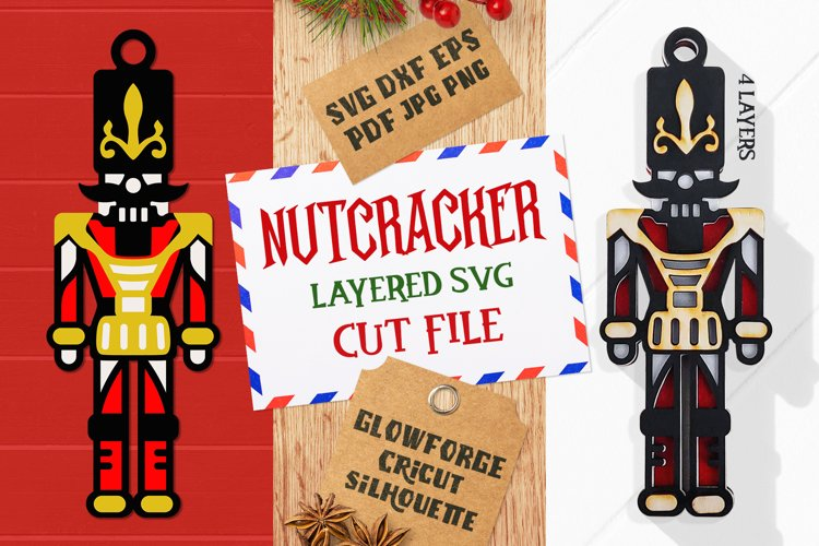 Nutcracker Layered SVG Cut File example image 1