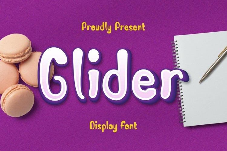 Web Font Glider Font example image 1
