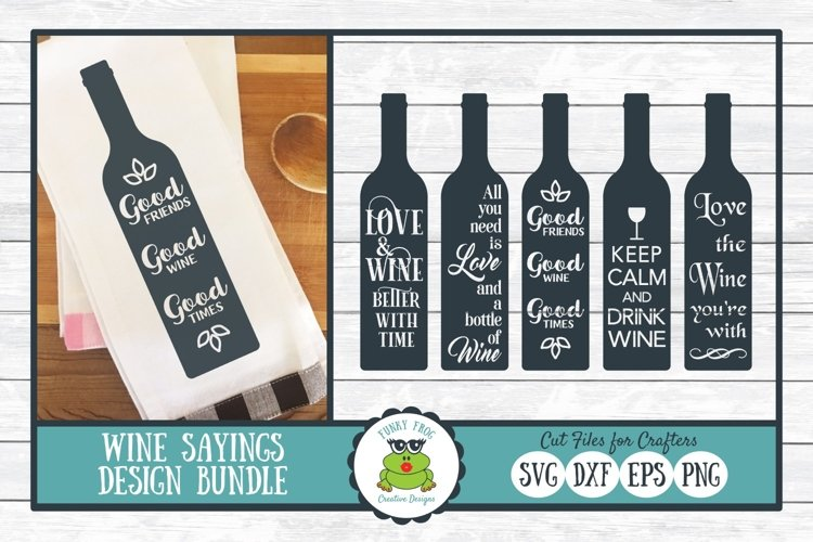 Wine Sayings Design Bundle - SVG Cut Files for Crafters example image 1