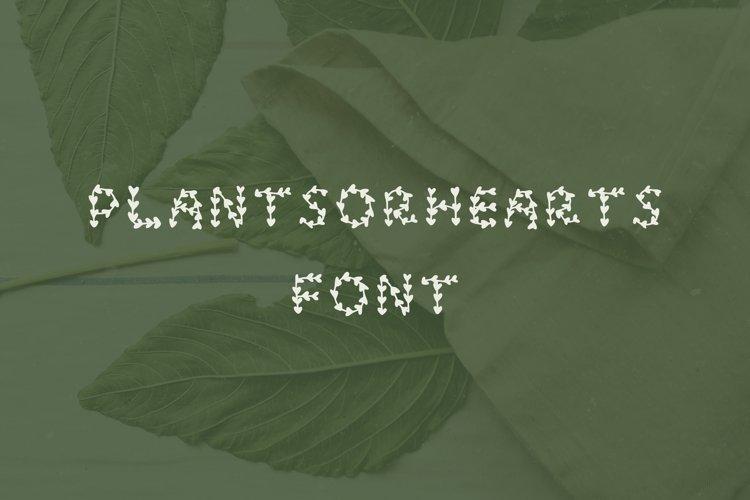 Plantsorhearts handwritten font example image 1