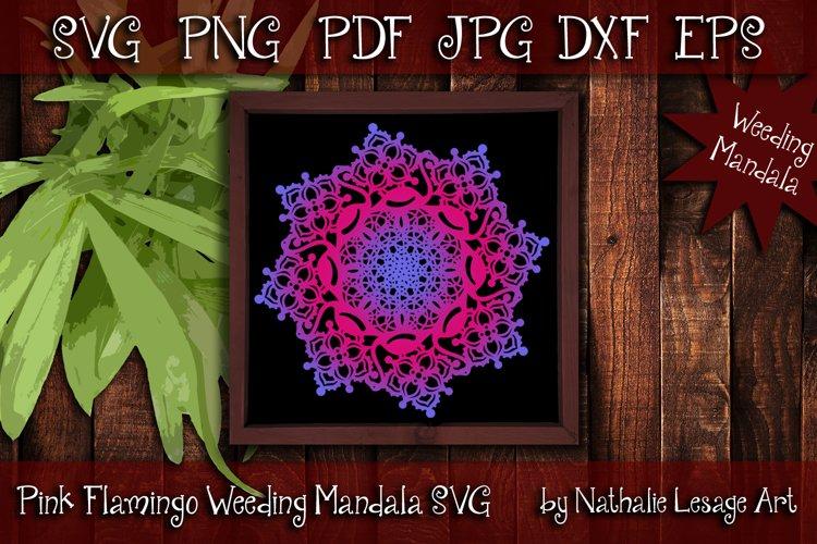 Pink Flamingo Mandala SVG Sublimation and Weeding Design example image 1