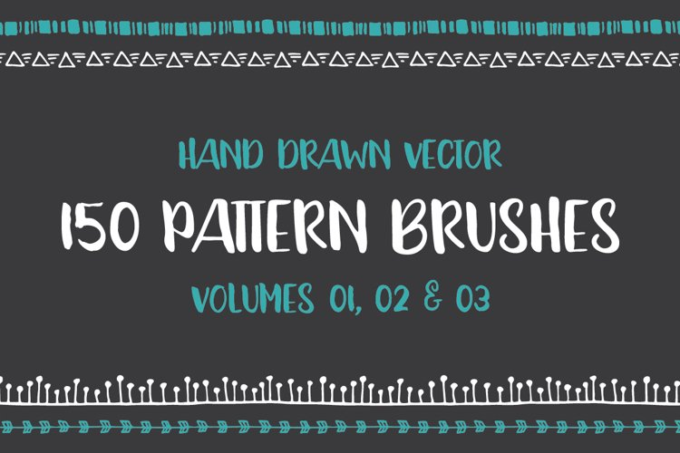 Hand Drawn Pattern Brushes Bundle - Volumes 01, 02 & 03