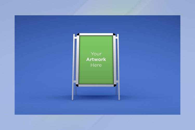 Two A Stand Advertising Board Mockup example image 1