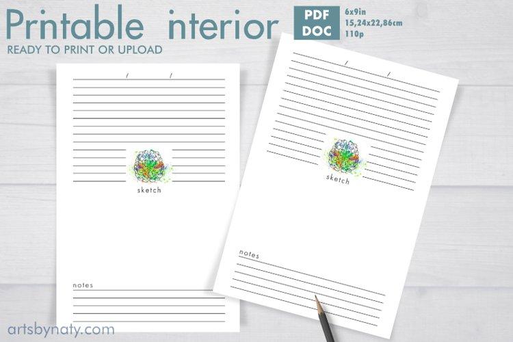 Lucid dream journal printable KDP interior.