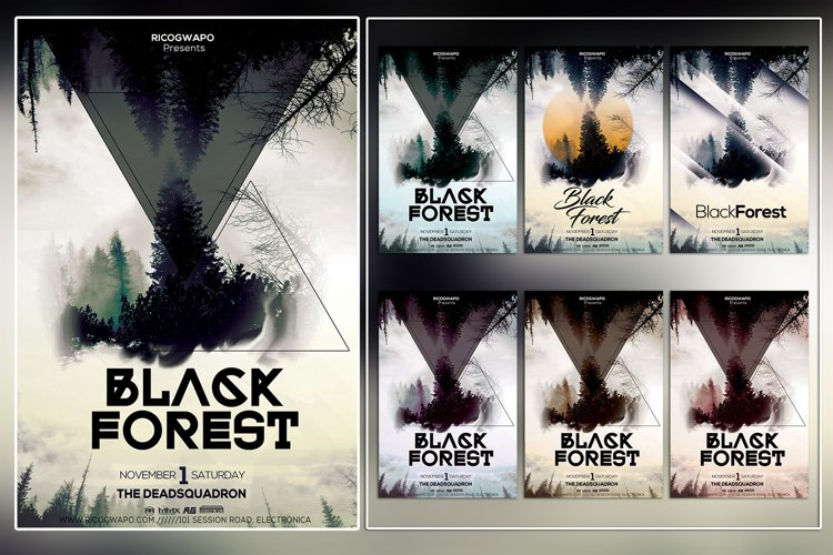 Black Forest Photoshop Flyer Template example image 1