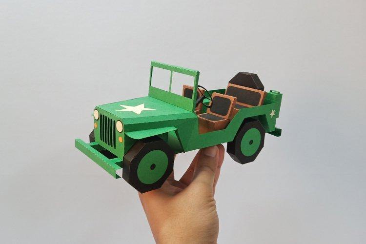 DIY Car - 3d papercraft example image 1