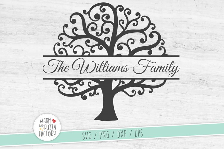Split monogram tree svg, Family tree svg, Family reunion svg