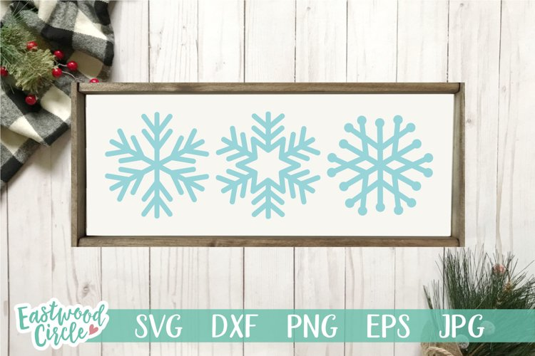 Snowflakes - Winter SVG File for Signs