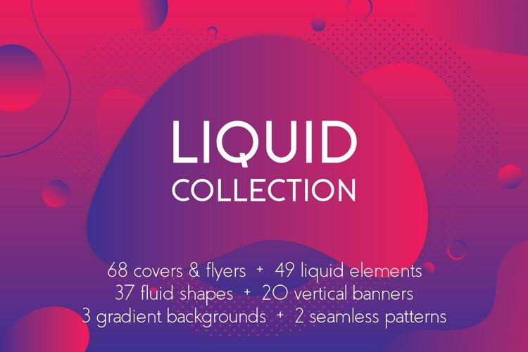 Liquid shapes bundle example image 1