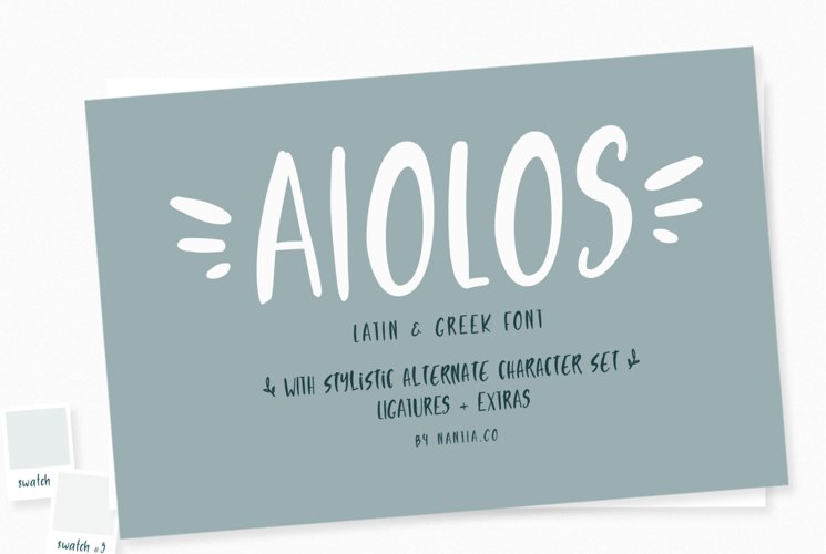 Aiolos Greek Font with extras example image 1