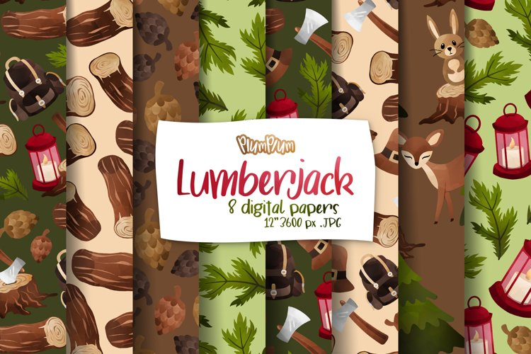 Lumberjack Digital Papers example image 1
