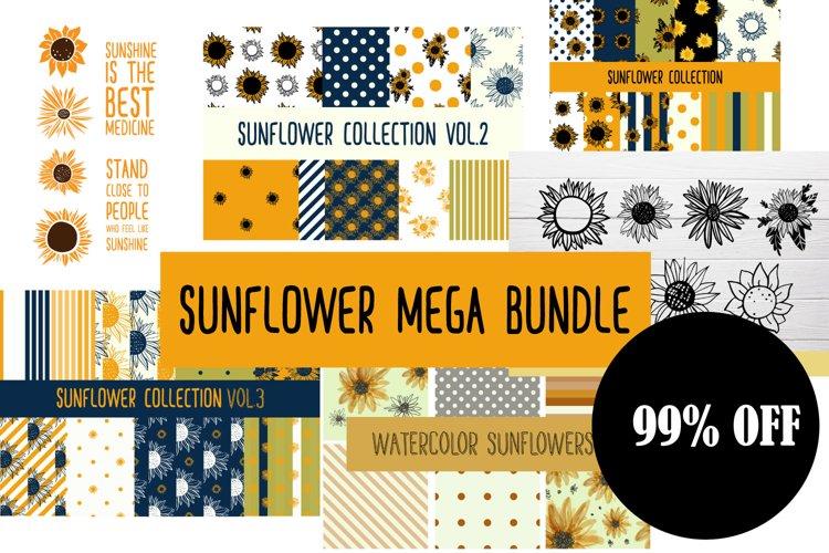 Sunflower SVG sunflower MEGA bundle example image 1