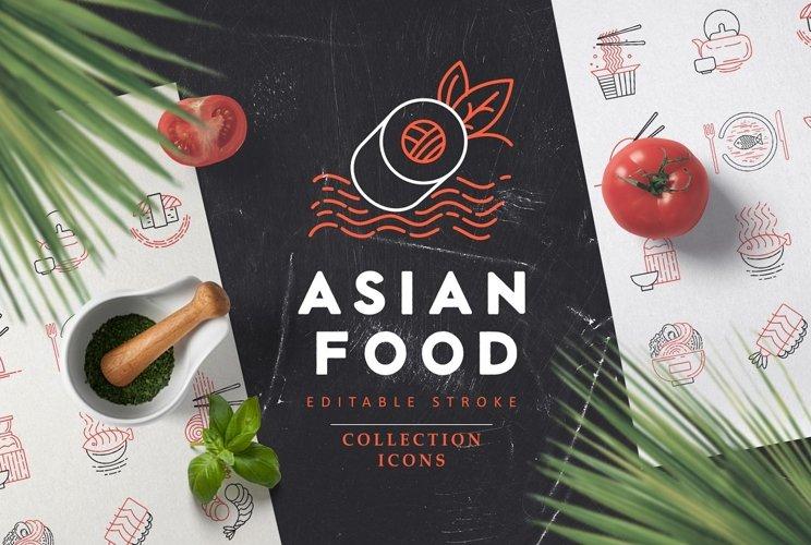 Asian food icons & logo example image 1