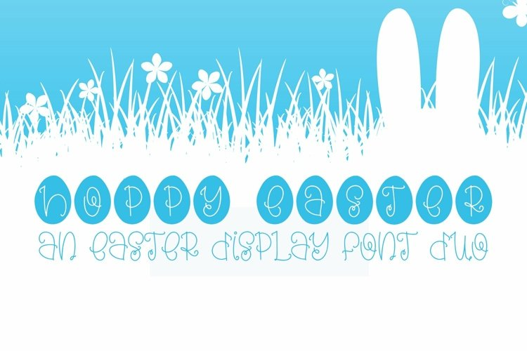 Web Font Hoppy Easter - An Easter Display Font Duo example image 1