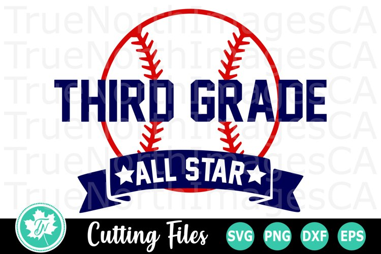 Third Grade All Star - A School SVG Cut File example image 1