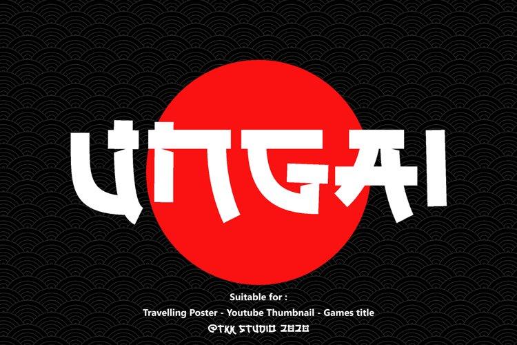 UNGAI - Faux Japanese Font example image 1