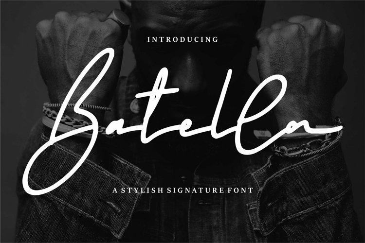 Web Font Batellya - A Stylish Signature Font example image 1