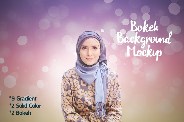 Mockup Bokeh Background