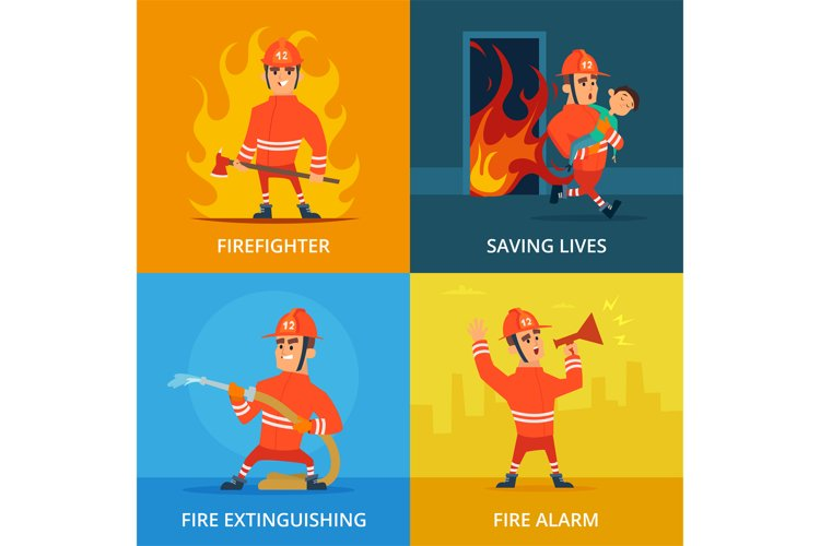 Conceptual pictures of firefighter and work equipment example image 1