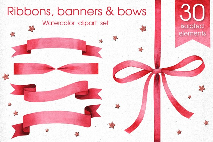 Ribbons, Banners & Bows set example image 1