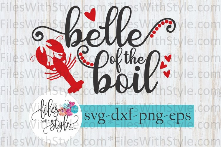 Belle of the Boil Crawfish 2 SVG Cutting Files example image 1