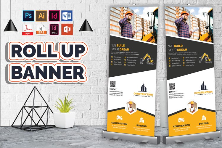 Construction Roll Up Banner Vol-08
