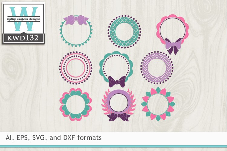Monogram Frames SVG - Monogram Bundle