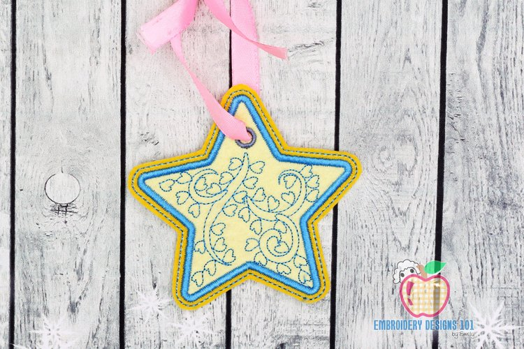 Decorative Star Ornament Embroidery example image 1