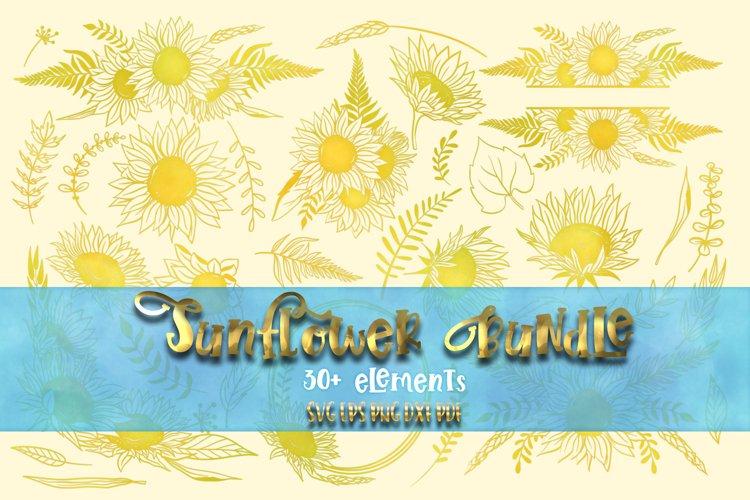 Sunflower bundle svg Sring flowers