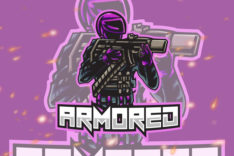 Armored Shooter Esport Gaming Logo example image 1