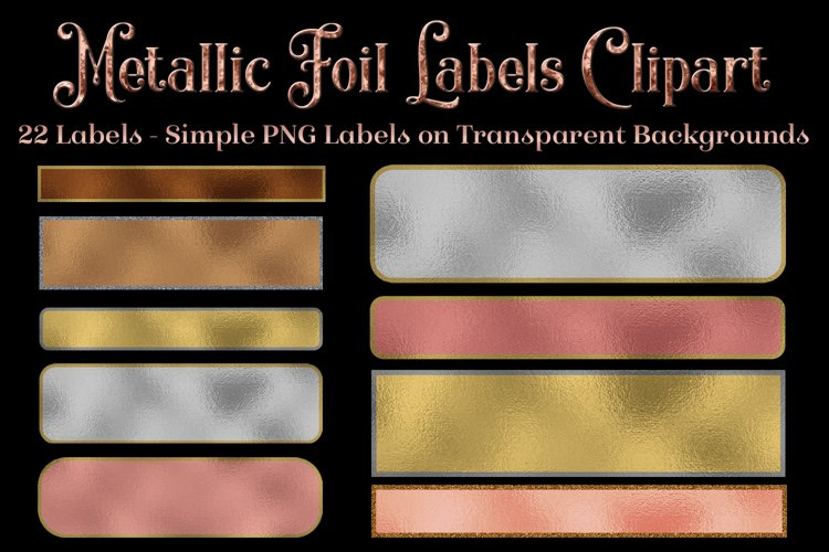 Metallic Foil Labels - Clipart Objects Set example image 1