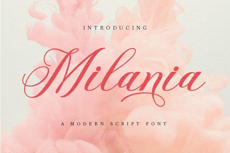 Milania Script example image 1