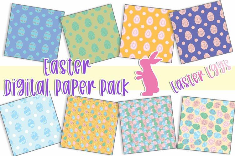 Digital Paper Seamless Patterns Spring Easter Eggs Bundle
