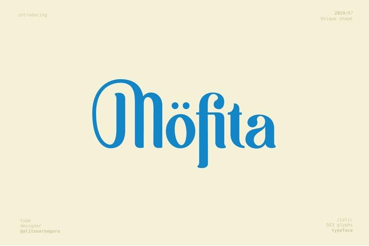 Möfita font example image 1