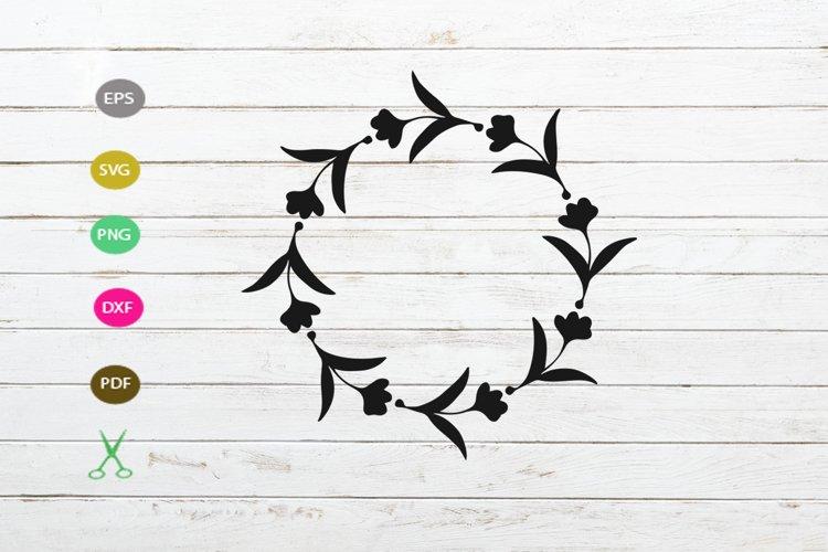 FLORAL FRAME in SVG, Floral wreath, Monogram frame svg file example image 1