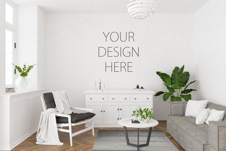Interior mockup - artwork background example image 1