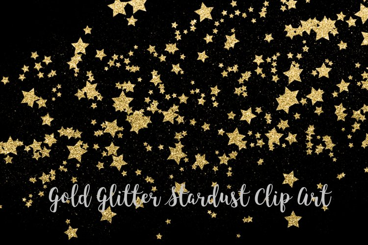 Gold Glitter Stardust, Transparent PNG example image 1