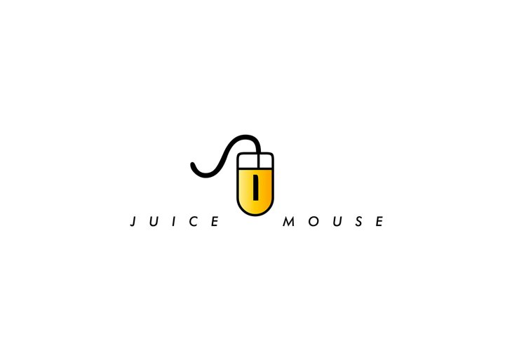 abstract logo template, icon juice mouse , vector graphic example image 1