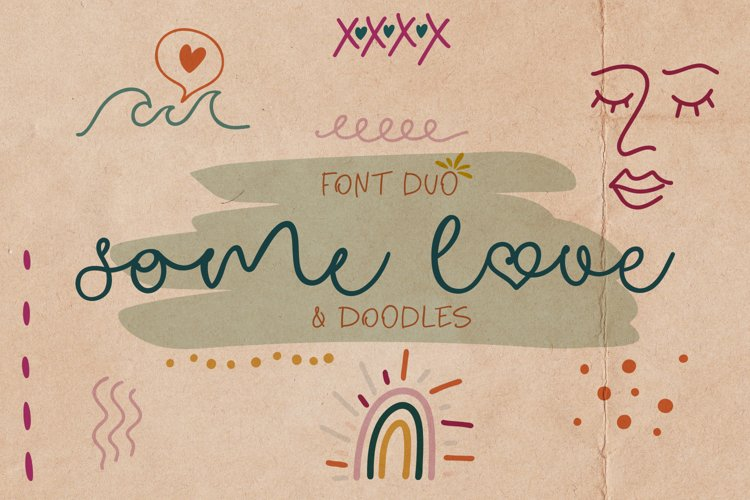 Some Love Font Duo & Doodles example image 1