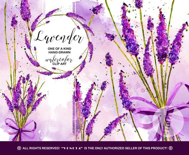Lavender Watercolor ClipArt Collection Printable Purple