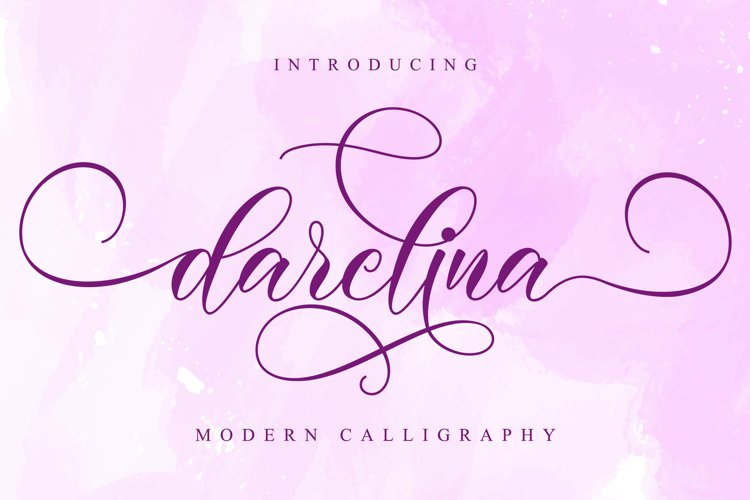 Darelina Script example image 1