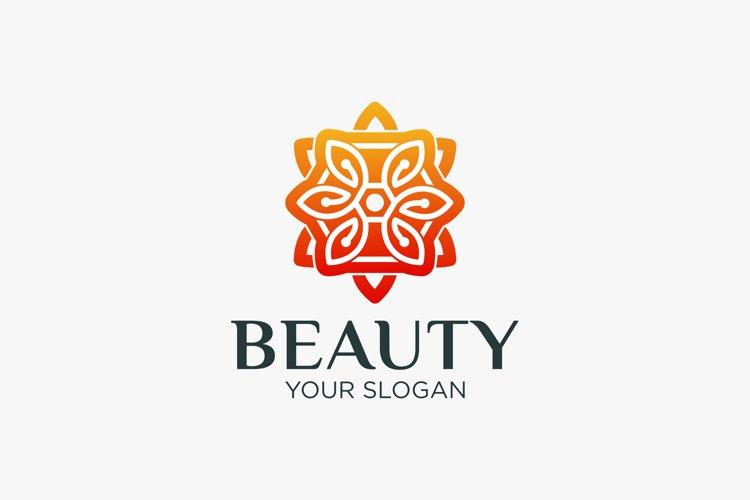 Minimalist elegant floral logo for beauty, cosmetics example image 1