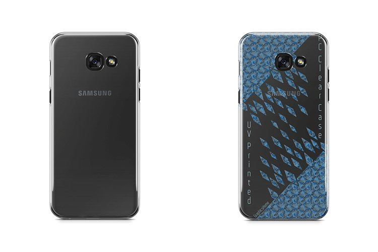Galaxy A5 2017 UV PC Crystal case Mockup Back View example image 1